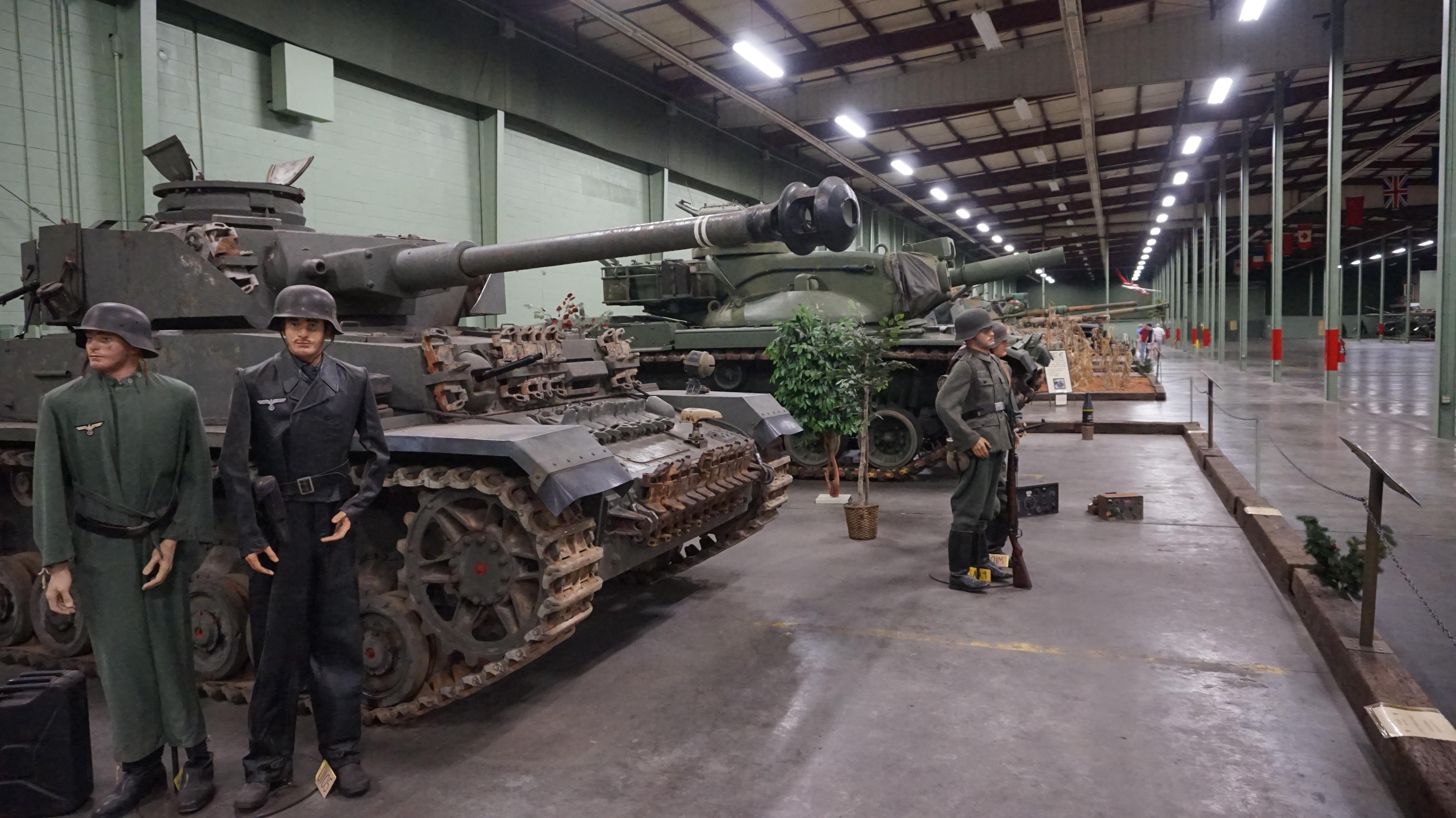 Tanks on display at the tank museum in Danville, Virginia